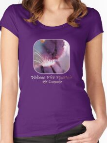 Volcano Fire Fountain Women's Fitted Scoop T-Shirt