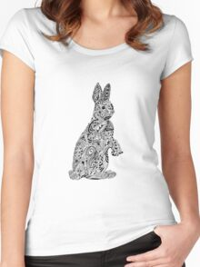 Rabbit_Pink Women's Fitted Scoop T-Shirt