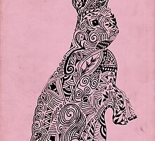 Rabbit_Pink by SuburbanBirdDesigns By Kanika Mathur