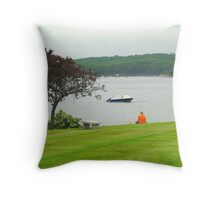 Harbor Gazer Throw Pillow