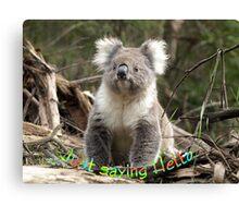 Koala saying Hello Canvas Print