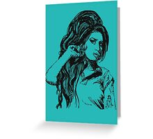 Icon: Amy Winehouse Greeting Card