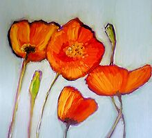Poppies by Sandrine Pelissier