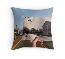 Looking Into the Past: Market Street, Leesburg, VA Throw Pillow