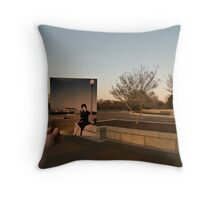 Looking Into the Past: Union Station Square, Washington, DC Throw Pillow
