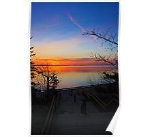 Sunset at Barnes Park Poster
