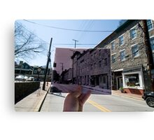 Looking Into the Past: Main Street, Ellicott City, MD Canvas Print