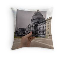 Looking Into the Past: US Capitol Under Construction, Washington, DC Throw Pillow