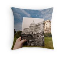 Looking Into the Past: Easter Egg Roll at the US Capitol Throw Pillow