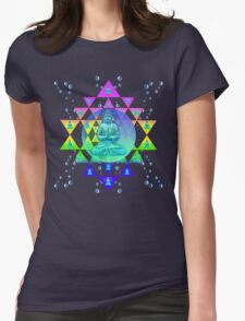 COSMIC BUDDHA Womens Fitted T-Shirt