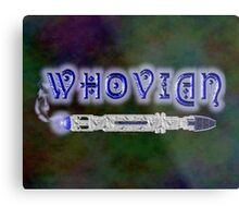 Whovian Screwdriver Metal Print