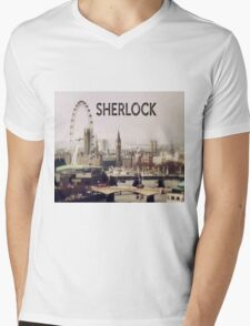 Sherlock & London Mens V-Neck T-Shirt