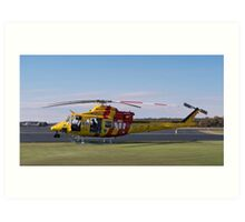 Westpac Rescue helicopter 0001 Art Print