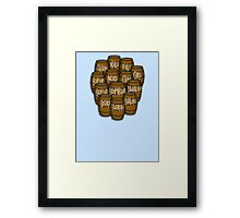 Dwarves in barrels from The Hobbit Framed Print