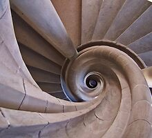 Rothenburg  - Spiral Staircase by David J Dionne