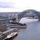 Circular Quay (West) & Harbour Bridge Sydney 1963 by Adrian Paul