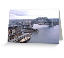 Circular Quay (West) & Harbour Bridge Sydney 1963 Greeting Card