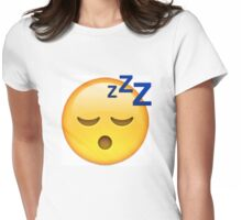 Sleeping Face Emoji Womens Fitted T-Shirt