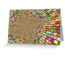 Colors and one central point. Greeting Card