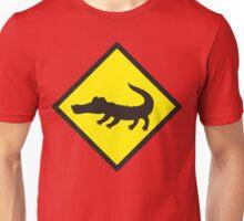 Crocodile YELLOW WARNING sign Alligator Unisex T-Shirt