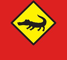 Crocodile YELLOW WARNING sign Alligator T-Shirt