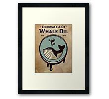 Walldun & Co Whale Oil Framed Print