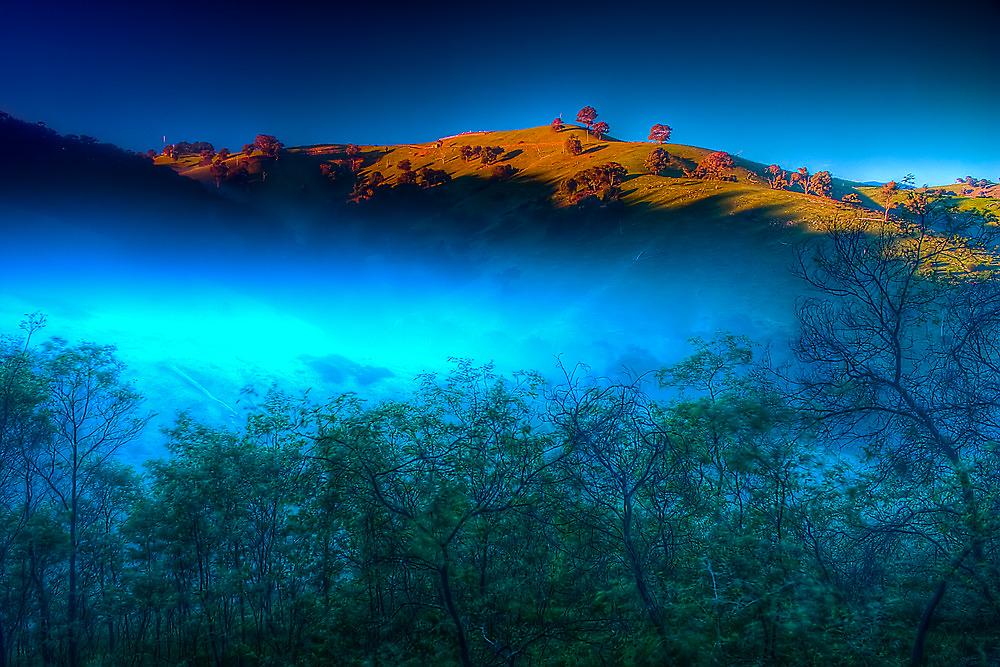 Morning Fog Near Lake Eildon by Jason Green