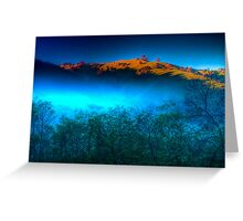 Morning Fog Near Lake Eildon Greeting Card