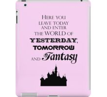 Here You Leave Today... (2) iPad Case/Skin