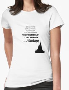 Here You Leave Today... Womens Fitted T-Shirt