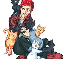 Josh Dun + Cats by poweredbyc0ke