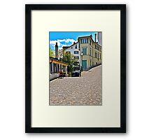 Split Walkway Framed Print