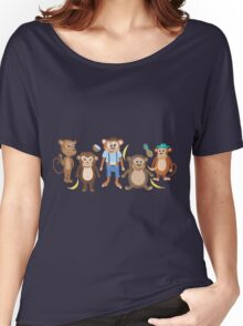 Funny Smiling Monkeys Women's Relaxed Fit T-Shirt