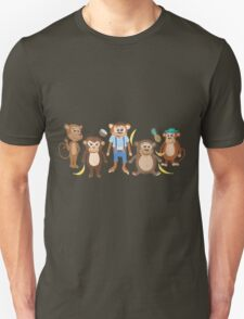 Funny Smiling Monkeys T-Shirt