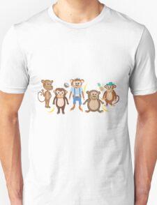 Funny Smiling Monkeys T-Shirt