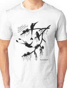 Black booted rackettail hummingbird Unisex T-Shirt