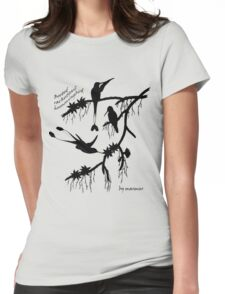 Black booted rackettail hummingbird Womens Fitted T-Shirt