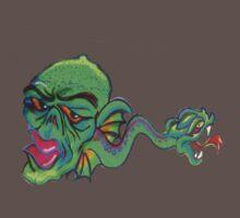 Graffiti~green critter  One Piece - Short Sleeve