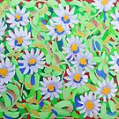 Blue Daisy Pattern by marlene veronique holdsworth