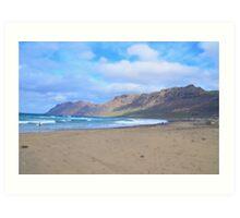 Lanzarote: Life is like surfing Art Print