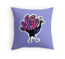 Peacock of the Walk Throw Pillow
