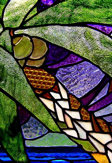 Palm Tree Colors in Glass by paintingsheep