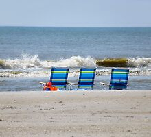 3 Chairs at the Edge by Caren