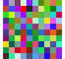 Color Squares 9 Photographic Print