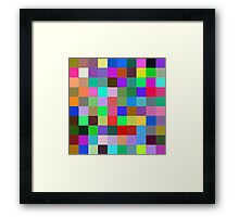 Color Squares 10 Framed Print