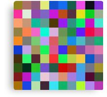 Color Squares 10 Canvas Print