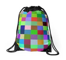 Color Squares 11 Drawstring Bag