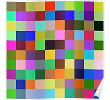 Color Squares 12 Poster