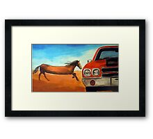 The Long Horse Framed Print