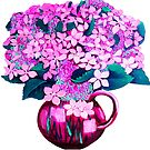 Pink Hydrangeas by marlene veronique holdsworth